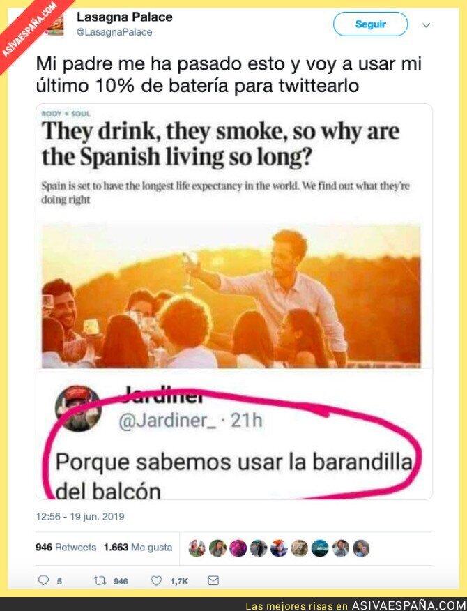 114717 - Los ingleses se preguntan que ¿qué hacemos los españoles para vivir tanto? La respuesta está clara...