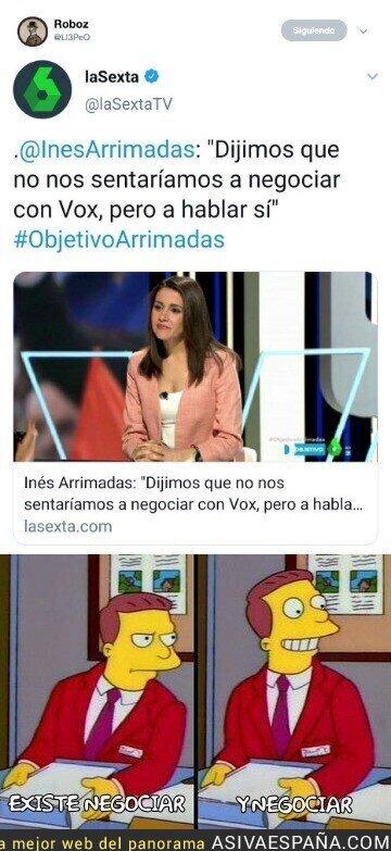 114721 - La NO negociación según Inés Arrimades