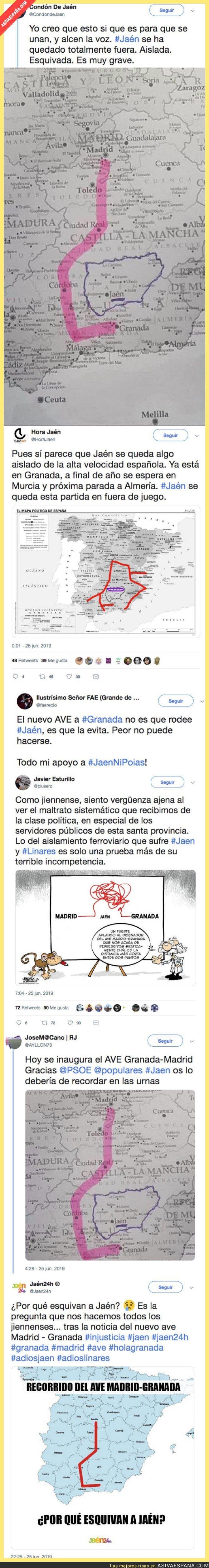 115171 - Jaen queda totalmente aislada en el mapa tras la inaguración del AVE a Granada