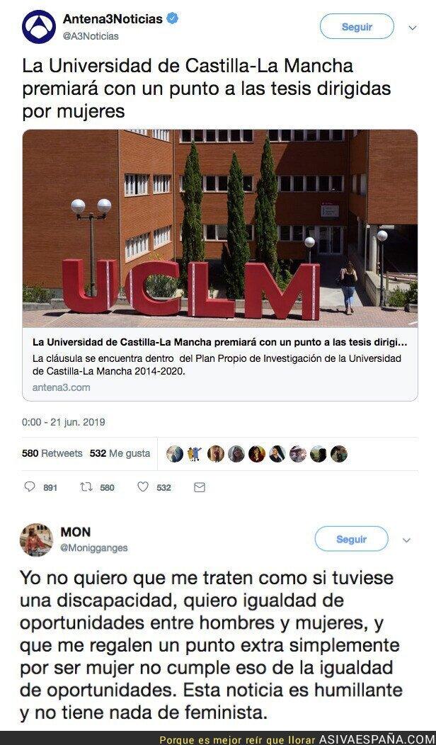 115191 - La Universidad de Castilla La Mancha premiará  con un punto a las tesis dirigidas por mujeres