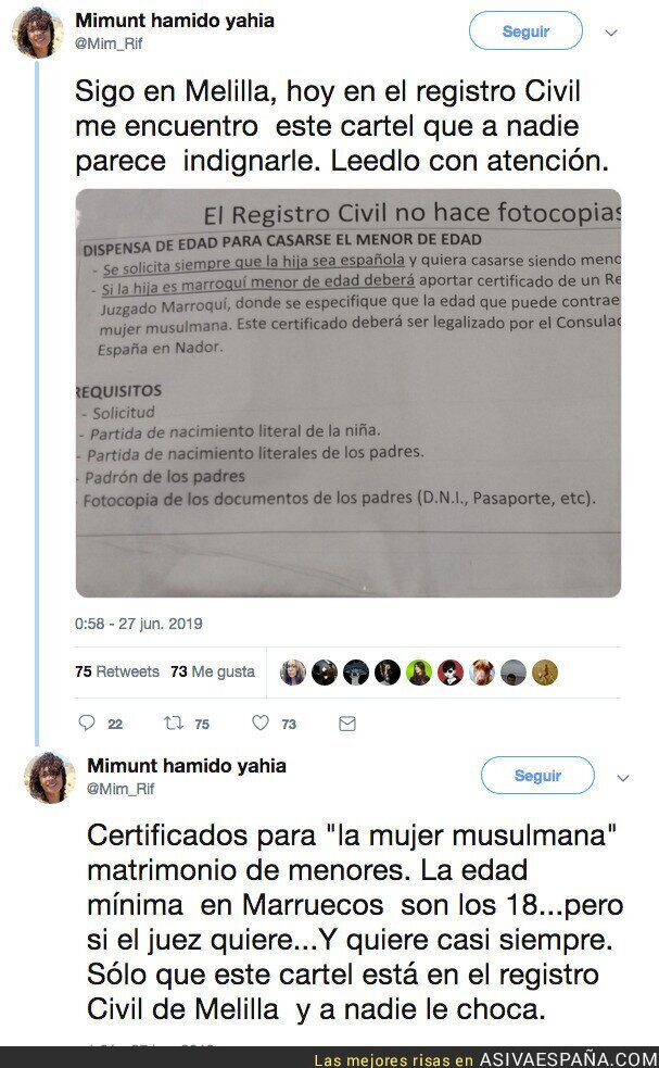 115386 - Los requisitos del registro civil para casar a niñas musulmanas...