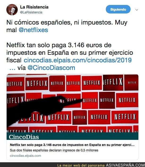 115396 - Netflix paga 3000 euros de impuestos en España...