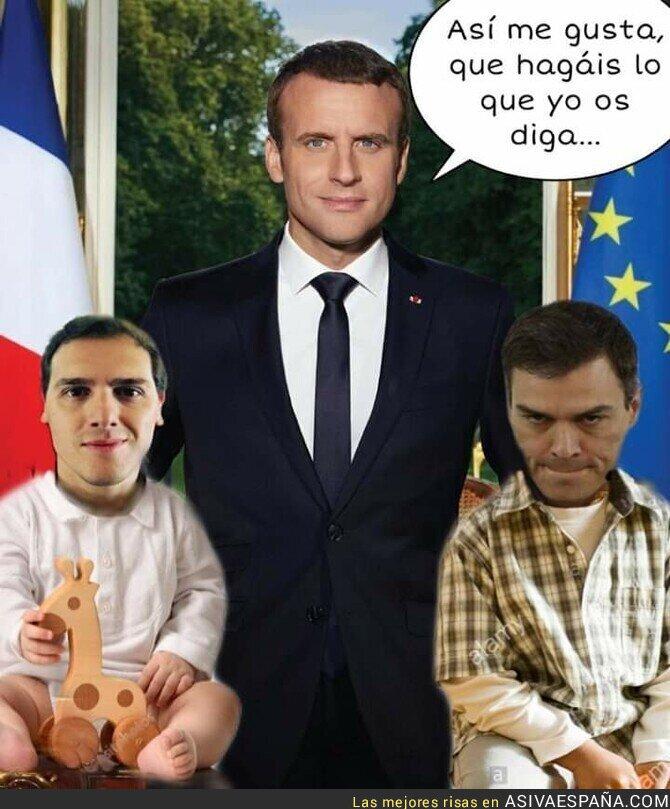 115851 - Emmanuel Napoleón Macron, amo y señor del protectorado francés España