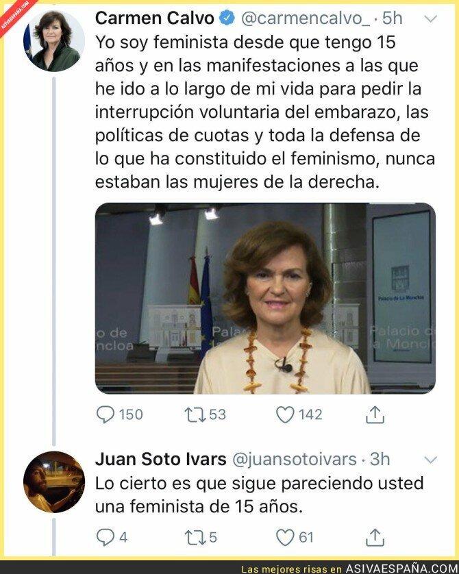116625 - La feminista Carmen Calvo
