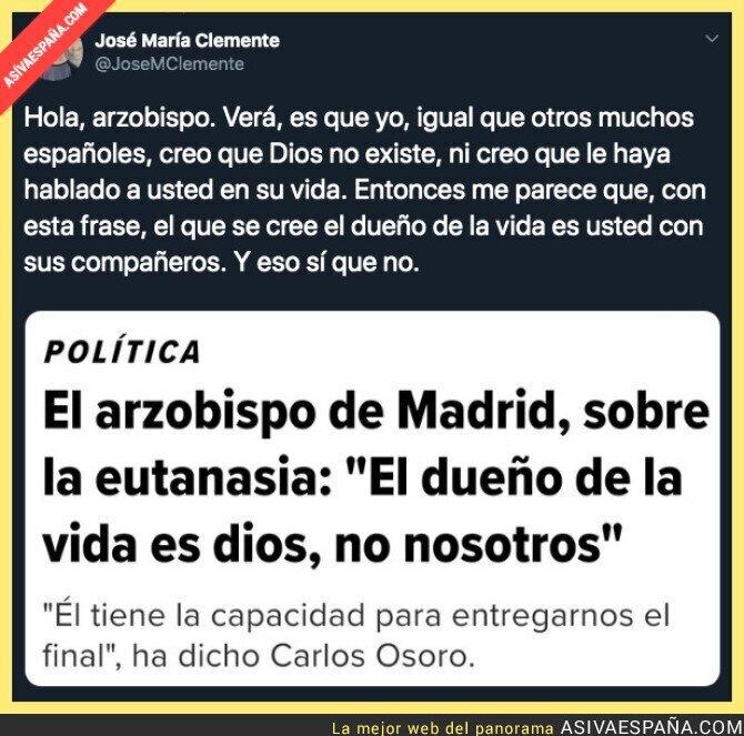 116800 - La polémica del arzobispo de Madrid y la eutanasia