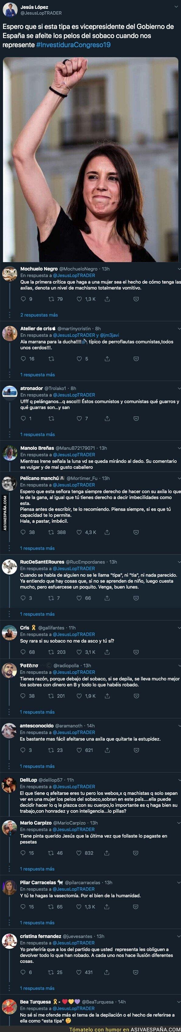 117035 - Indignación total por el comentario vomitivo hacia Irene Montero del Portavoz del PP en Barajas de Melo (Cuenca)