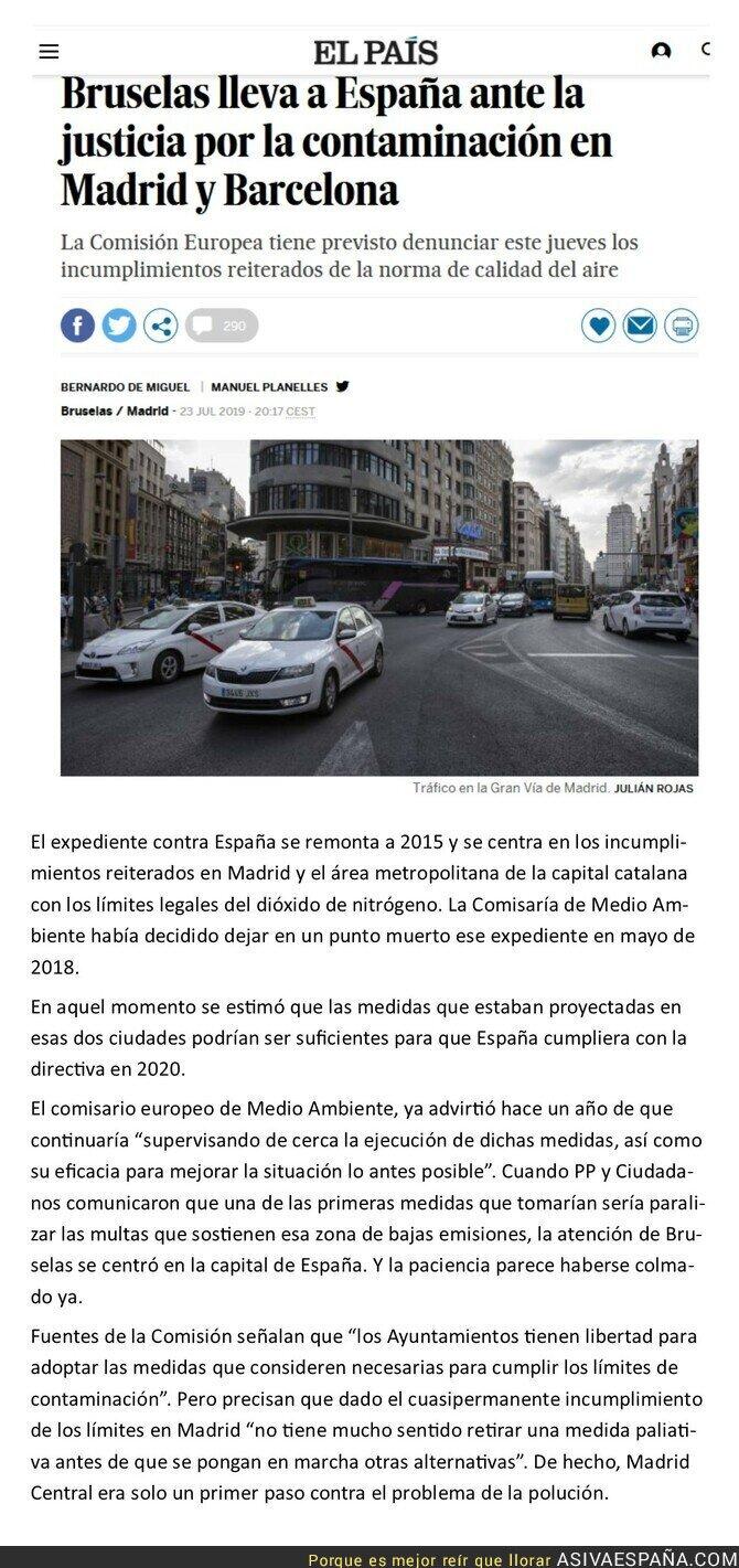 117149 - Consecuencias de intentar revertir Madrid Central