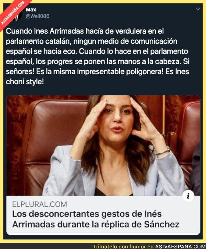 117214 - Inés Arrimadas es la misma impresentable en Catalunya y en Madrid