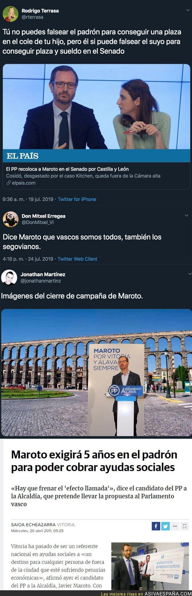 117343 - Maroto se ha empadronado en Segovia y esto decía en 2011 sobre hacerlo para cobrar ayudas sociales