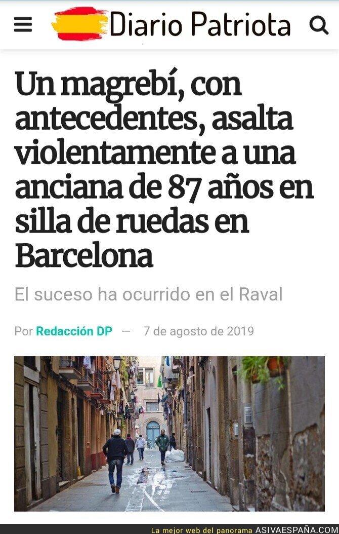118379 - Magrebí asalta a anciana en Barcelona