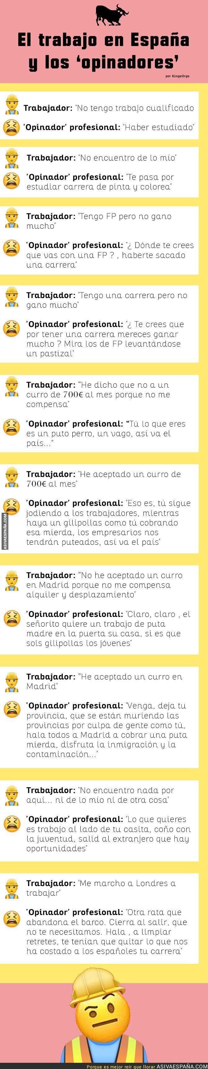 118406 - El trabajo en España y los 'opinadores'