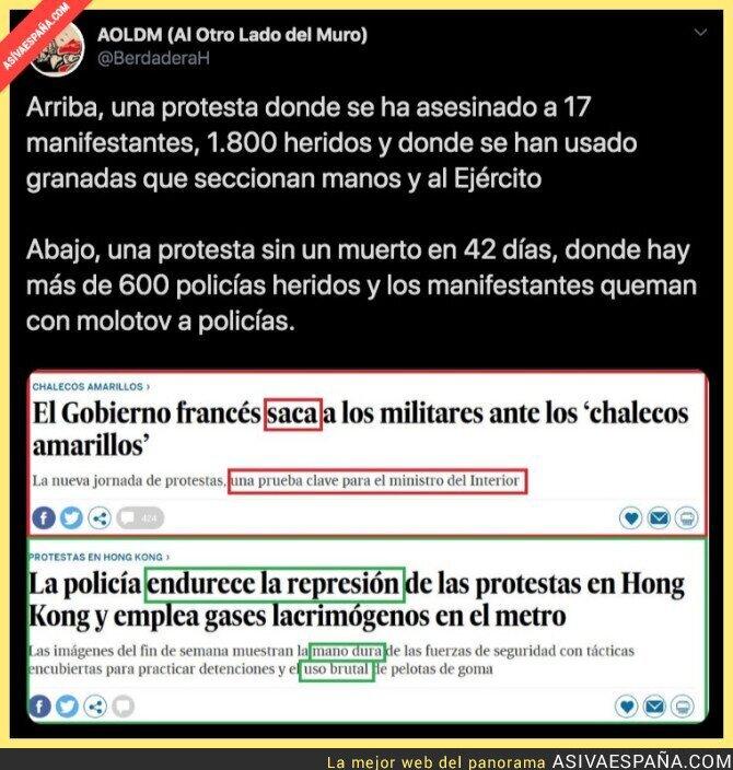 118707 - El doble rasero de El País con según que manifestantes
