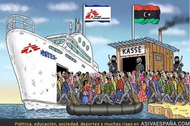 119032 - Las ONG colaboran con las mafias que trafican con seres humanos
