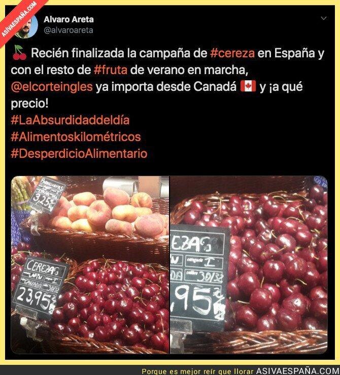 119154 - Importando cerezas desde Canadá a precios desorbitados