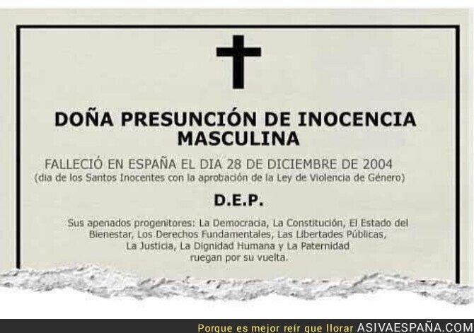 119219 - Descanse en Paz la presunción de inocencia masculina