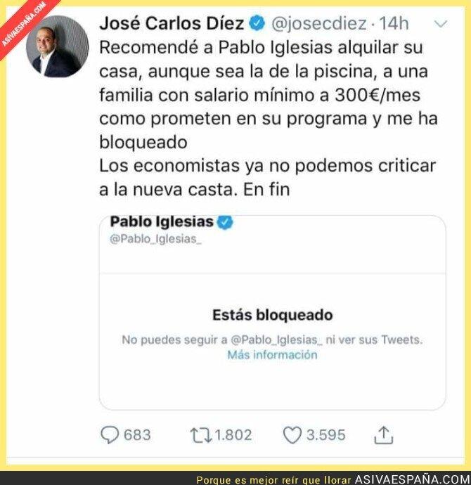119594 - Pablo Iglesias dando ejemplo, como es costumbre en él