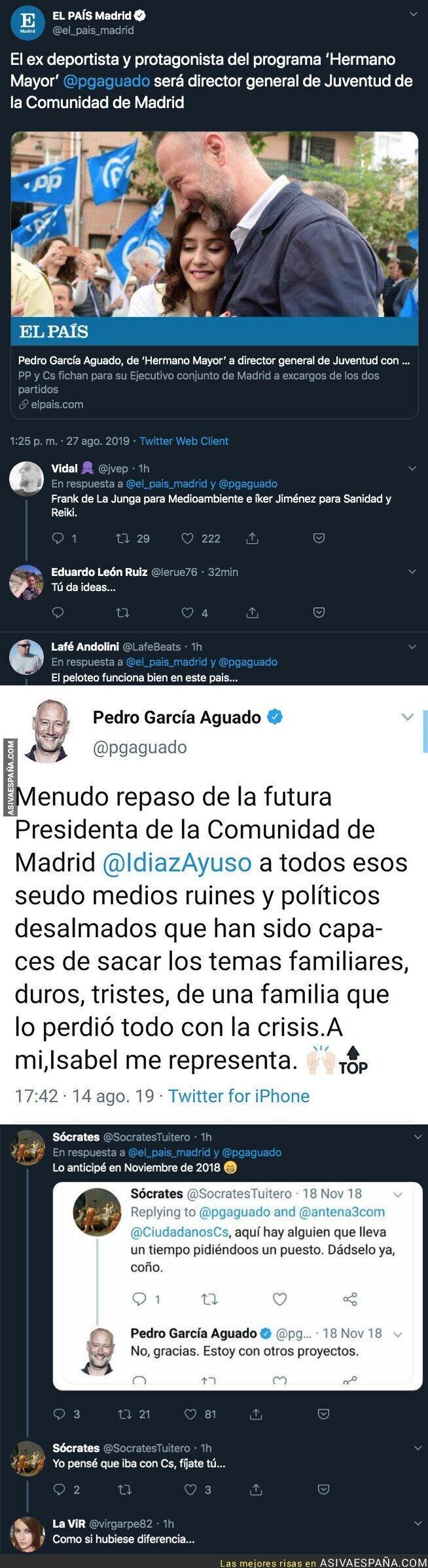 119701 - Pedro García Aguado logra un puesto en la Comunidad de Madrid tras pelotear a todo el PP