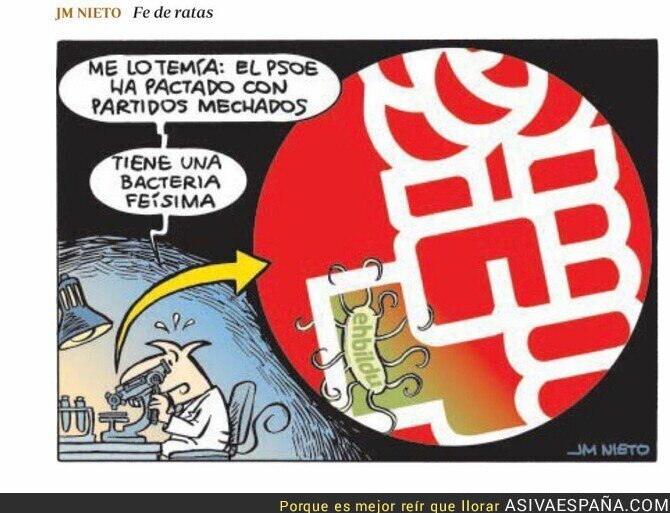 119752 - Científicos descubren que el PSOE está contaminado por una bacteria