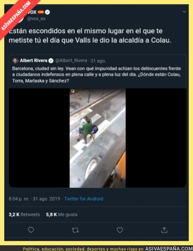 120209 - Zasca épico de VOX a Alberto Carlos Rivera
