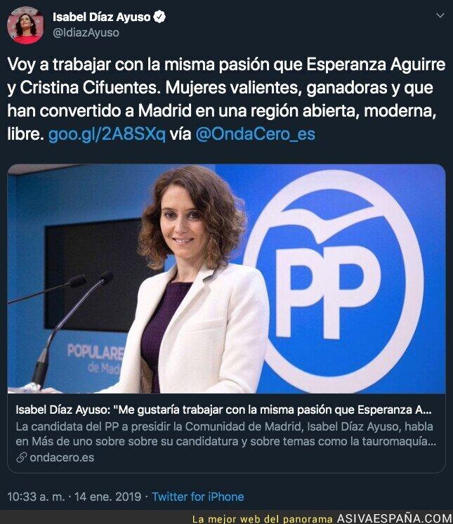 120247 - Así se presentaba Isabel Díaz Ayuso el 14 de enero