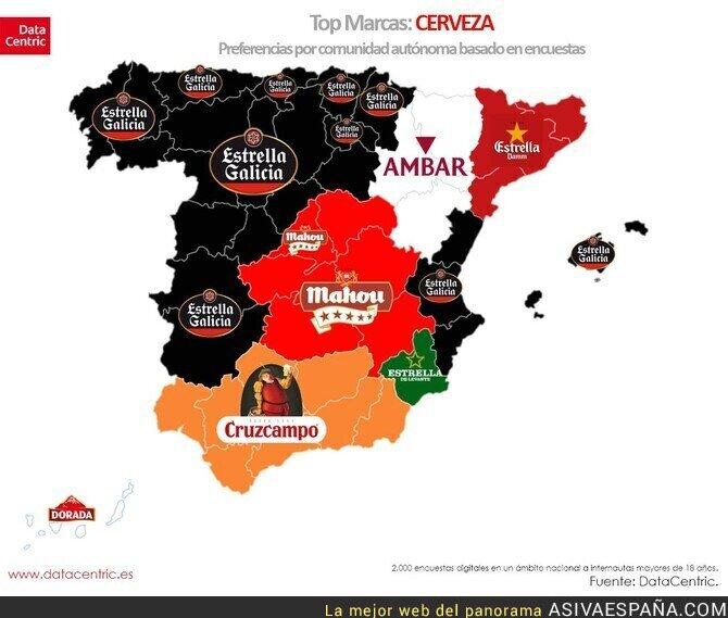 120406 - Las cervezas más bebidas en España