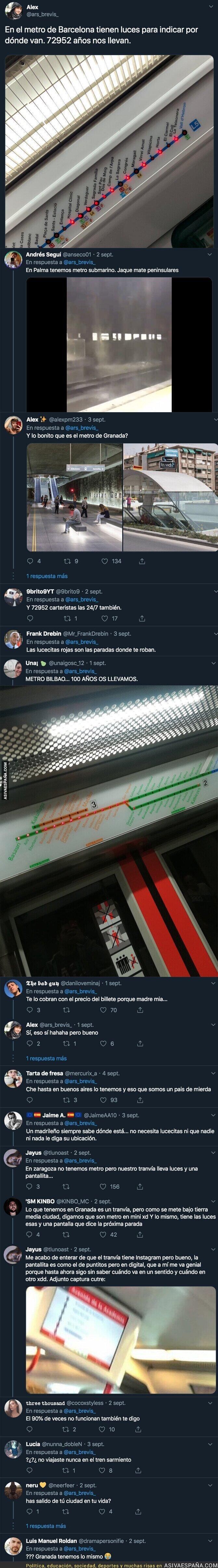 120546 - Un chaval destaca que el metro de Barcelona tiene lucecitas para saber en que parada estás y se convierte en la mofa de todos