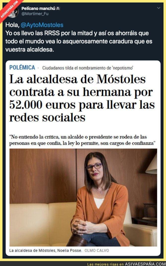 120585 - El increíble sueldazo que tiene la community manager del Ayuntamiento de Móstoles
