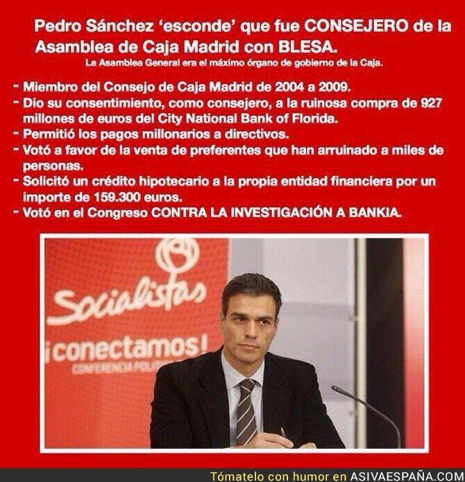 120847 - La gestión previa en Caja Madrid avala a Pedro Sánchez