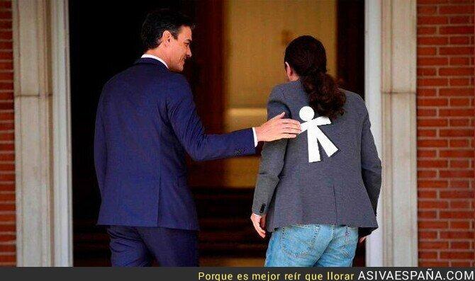 121107 - Pablo Iglesias cada vez que visita a Pedro Sánchez