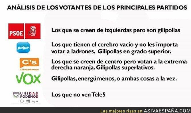 121401 - El perfil de los votantes en España