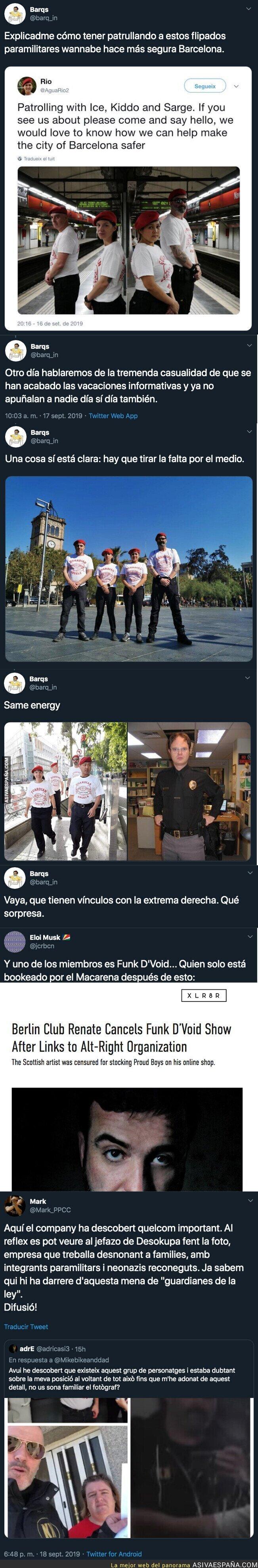 121459 - La gente que protege Barcelona es de extrema derecha