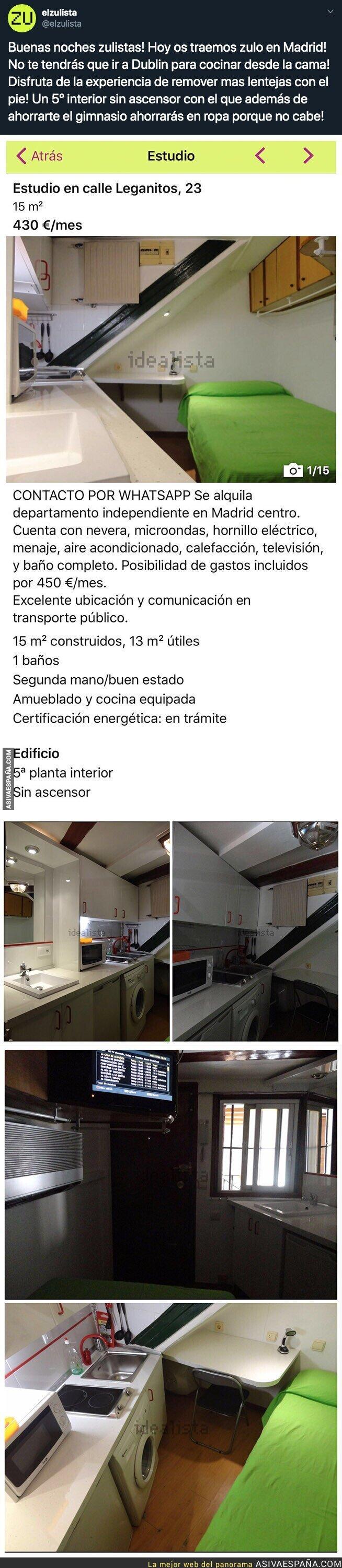 121610 - El denunciable piso que se alquila en Madrid de 15m2 por este abusivo precio
