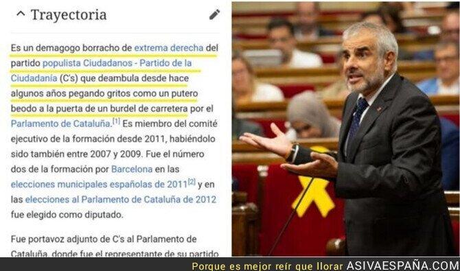 122118 - Trolean la página de Wikipedia de Carlos Carrizosa