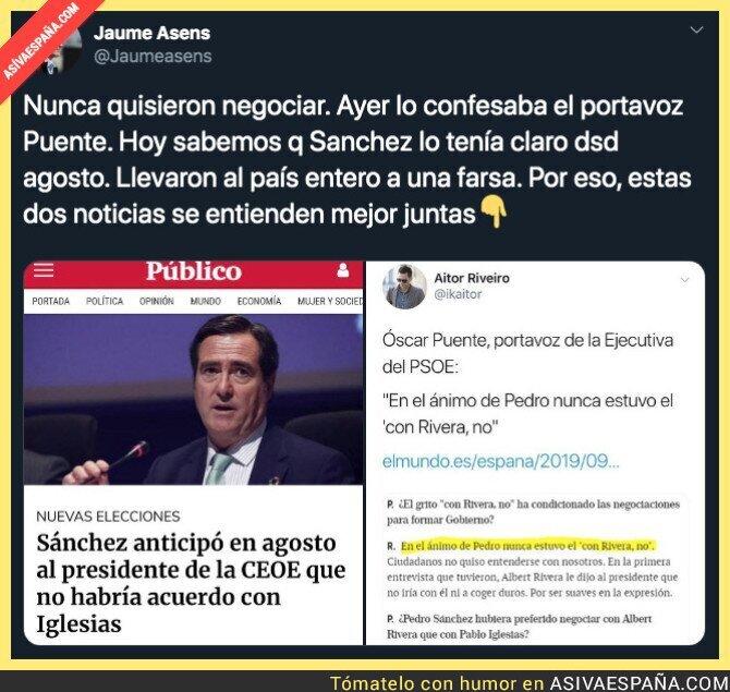 122165 - Pedro Sánchez nunca ha querido negociar