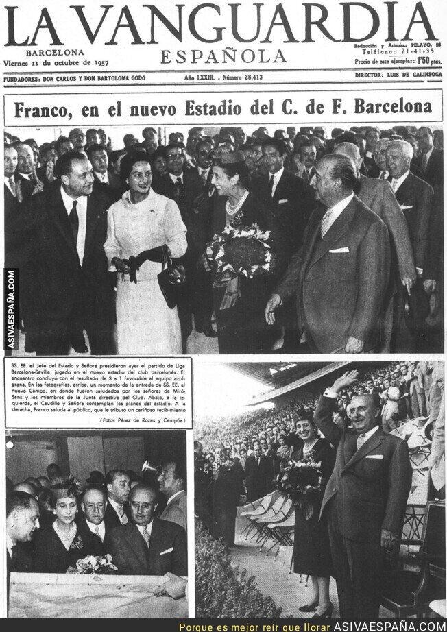 122551 - Franco aclamado en el Camp Nou