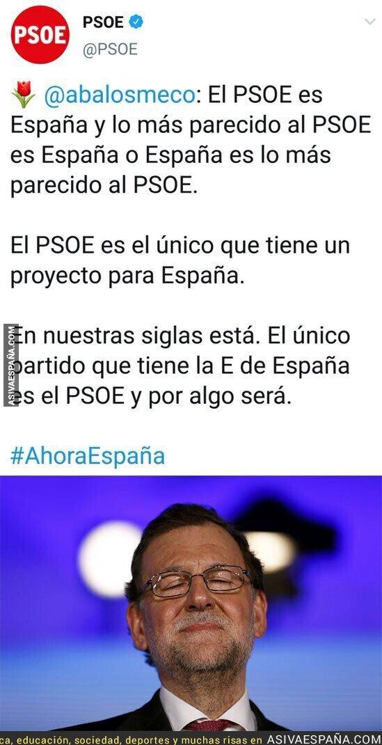 122742 - Rajoy está encantado con el nuevo PSOE