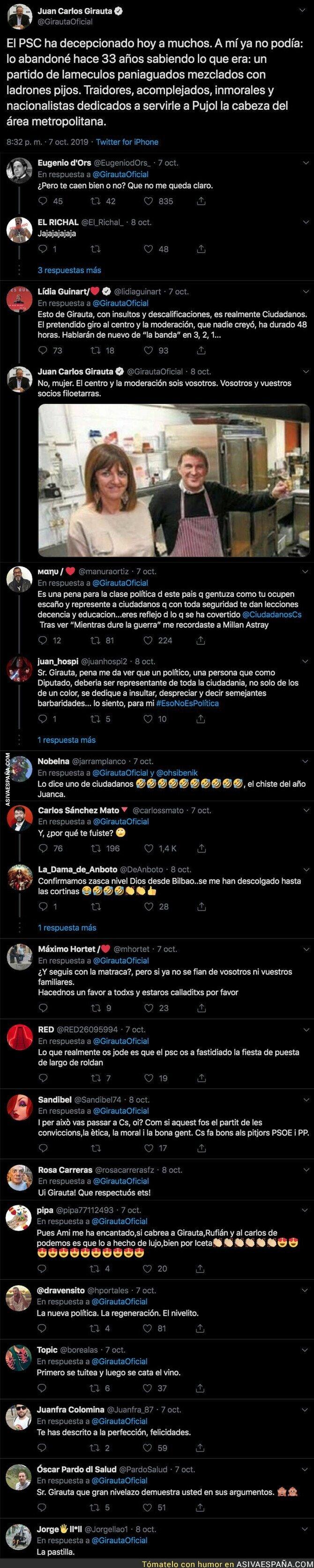 123214 - Juan Carlos Girauta lanza un mensaje totalmente incendiario contra el PSOE