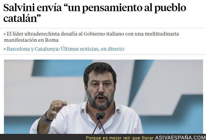 124545 - Salta la sorpresa: Salvini muestra su apoyo al independentismo catalán