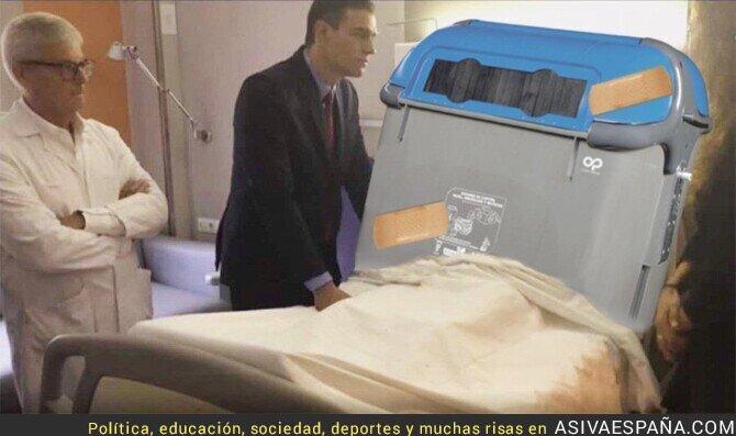 124689 - Pedro Sánchez sigue visitando a los heridos de Barcelona