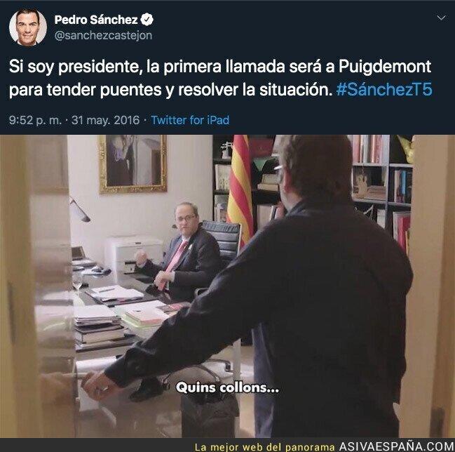 124983 - El tuit de Pedro Sánchez en 2016 que le deja totalmente retratado