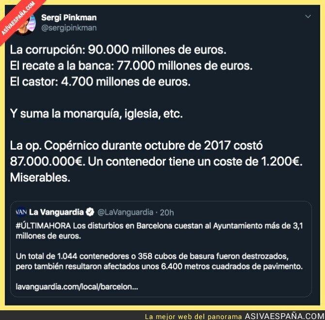 125059 - El coste de la represión en Catalunya comparado a los escándalos de vedad