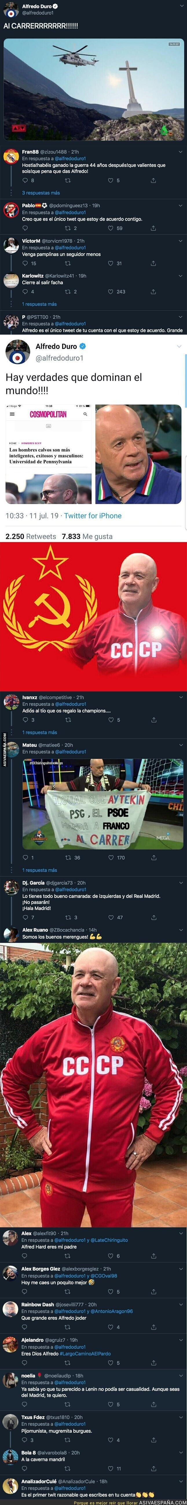 125118 - Todo el Mundo está celebrando el tuit de Alfredo Duro tras la salida de Franco del Valle de los Caídos