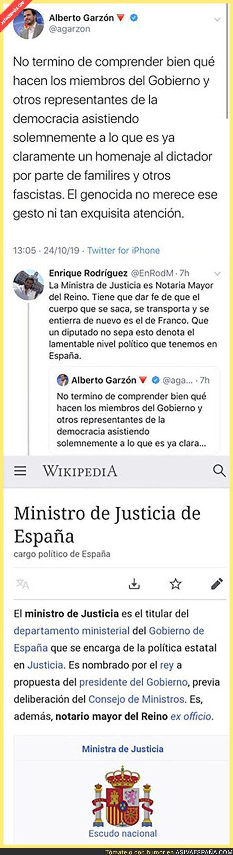 125167 - Alberto Garzón no entiende lo de los miembros del Gobierno en el funeral de Franco y le responden dejándole por los suelos