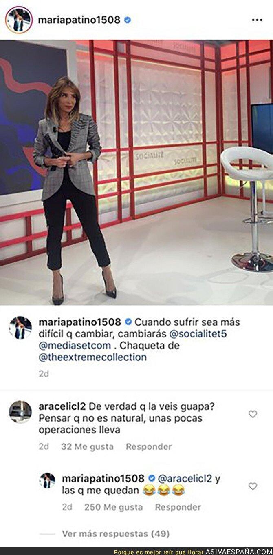 125556 - Maria Patiño sabe bien como callar a los haters respondiéndoles de la mejor forma posible tras recibir este tipo de críticas