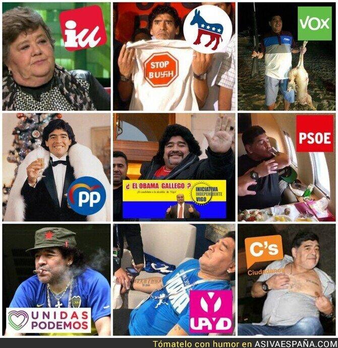 125689 - Maradona como diferentes opciones políticas