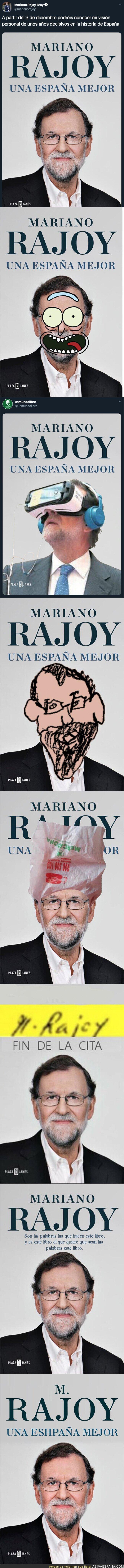 125690 - Mejorando la portada del futuro libro de Mariano Rajoy