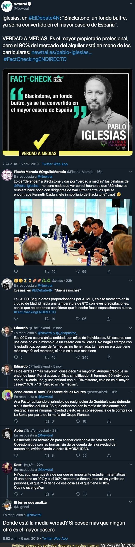 126262 - 'Newtral' niega a medias a Pablo Iglesias que 'Blackstone' sea el mayor casero de España