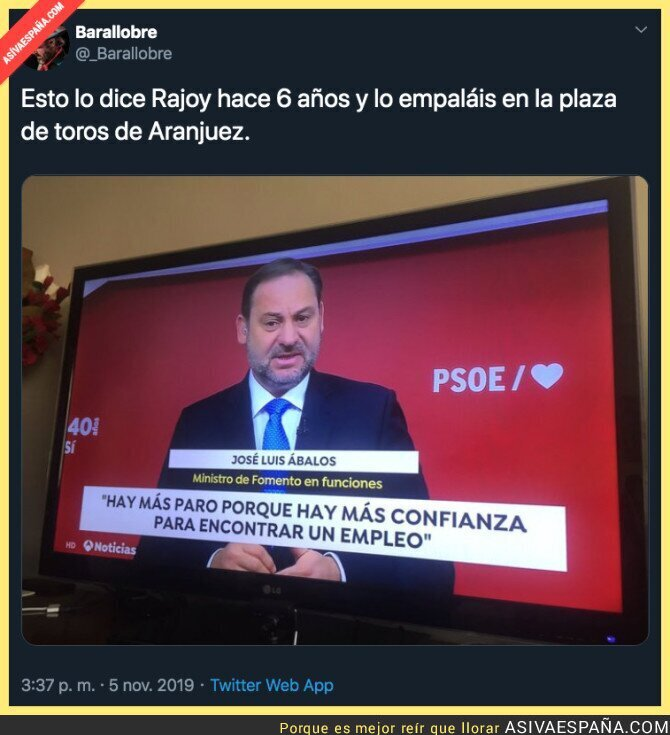 126279 - La razón por la que hay más paro según el PSOE