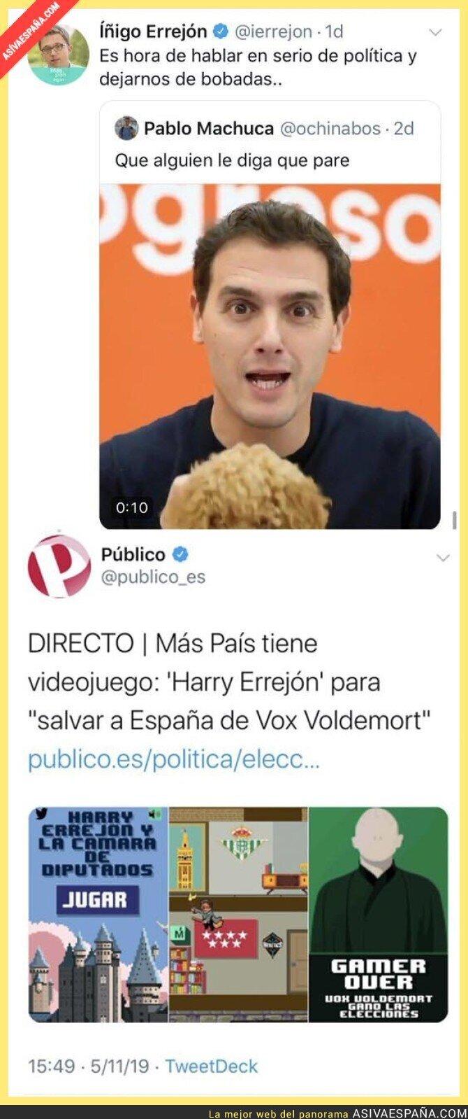 126289 - En política hay que ser más serioes, ya lo dijo Íñigo Errejón