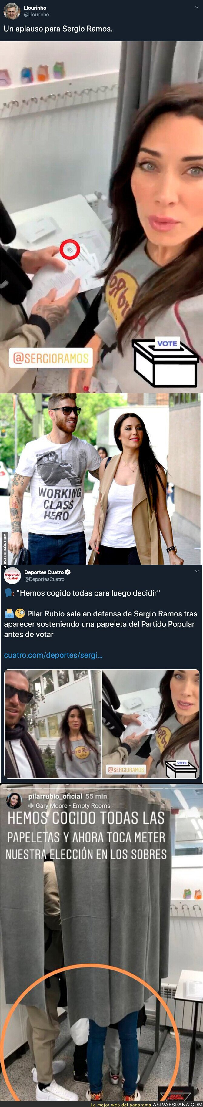 126660 - Pilar Rubio la lía y desvela sin querer a qué partido político vota Sergio Ramos